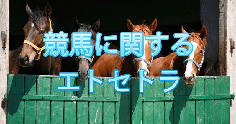 競馬に関するエトセトラ